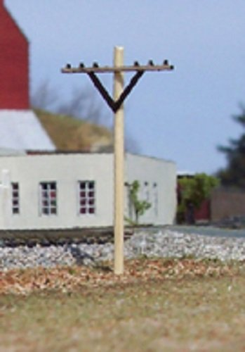 Telephone Poles - Osborn Model N Scale Railway Telephone Posts Set of 12 New Kit #RRA3068