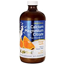 LifeTime Vitamins - Liquid Calcium Magnesium Citrate Natural Orange Vanilla Flavor - 16 oz.