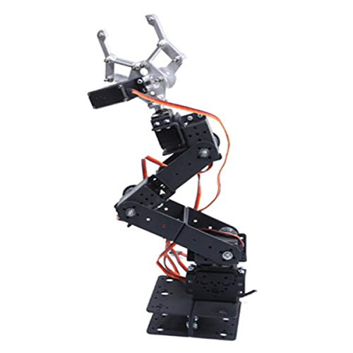 6 DOF 3D Rotating Mechanical Robot Arm Kit For Smart Car - Arduino Compatible SCM & DIY Kits Smart Robot & Solar Panel - (Bracket with Metal Helm + six DS3115 servos) - 1 x DIY 6 Digit LED Large