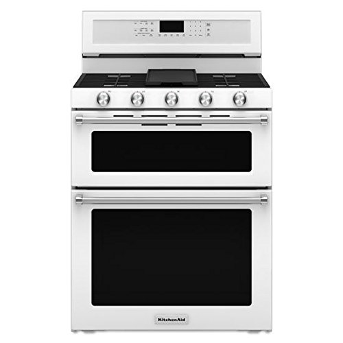 kitchen aid double oven gas range - 1