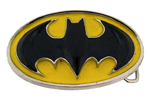 Batman Belt Buckle (Batman 3D Original Colors Black and Yellow Oval)