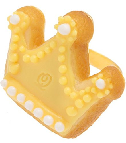 Q-pot. Crown Sugar Cookies Ring yellow Fashion Jewelry New From Japan