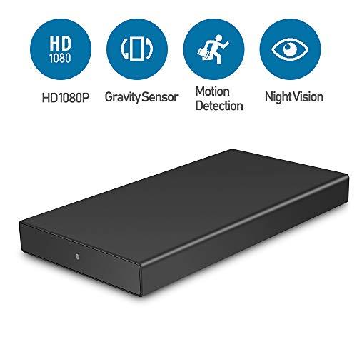 Mofek 10000mAh Hidden Camera Power Bank with Gravity Sensor, Motion Detection, Night Vision, HD 1080P Nanny Cam/Security Camera Real Charger