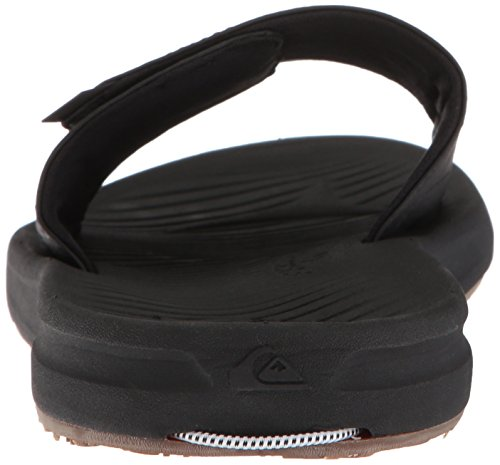 Quiksilver Men's Travel Oasis Slide Sandal, Black/Black/Brown, 8(41) M US by Quiksilver (Image #2)