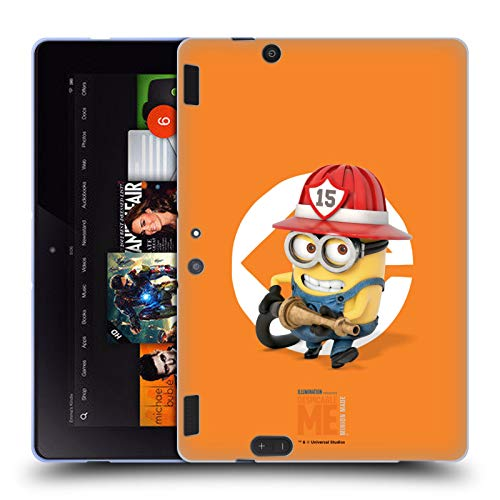 Official Despicable Me Bob Fireman Costume Minions Soft Gel Case Compatible for Amazon Kindle Fire HDX 8.9]()