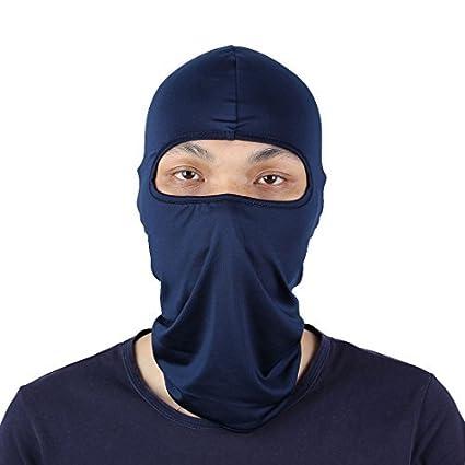 eDealMax Lycra Ultra-delgada máscara de la motocicleta de ciclo completo Cuello de la cara