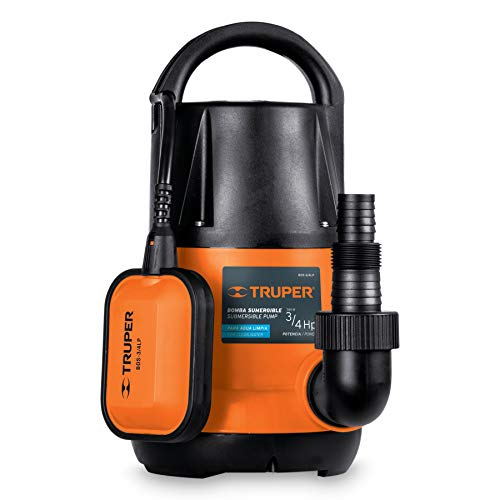 Truper BOS-3/4LP, Bomba Sumergible para Agua Limpia, 3/4 HP