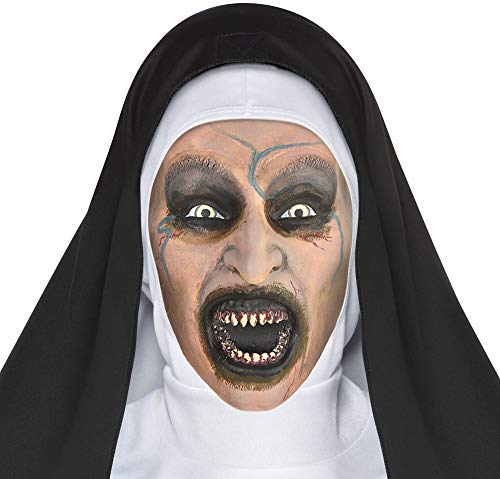 SUIT YOURSELF The Nun Possessed Nun Mask for Adults, One Size, Latex Mask Features a Demonic Expression from by The Nun]()