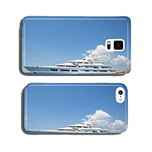 Luxury large super or mega motor yacht in the blue sea. cell phone cover case iPhone5