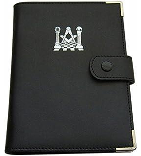 6c344e63edea Personalised Tan PU Leather Effect Masonic With G Notebook Pad ...