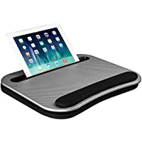 LapGear Smart-e Memory Foam Lap Desk, Fits up to 15.6 Inch laptops (Silver Carbon)