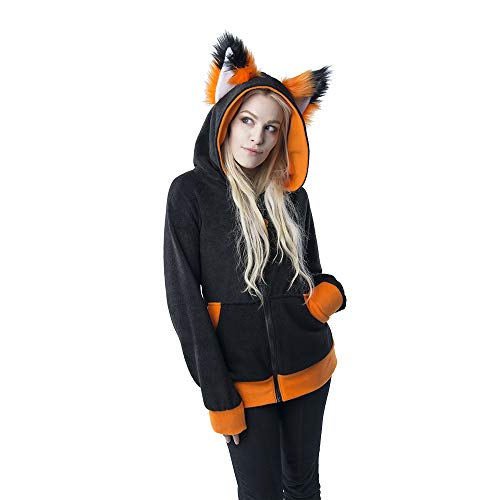 (Pawstar Color Theme YIP Fox Wolf Eared Hoodie Jacket - Large)