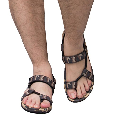 Colori Clip 2 Donna E 6 Toe Per camo Scarpe Summer nero Dual 2 Low Heel Yying Sandals Da blu Scuro Nero 35 Asiatico Couple use Uomo Flat 2 Camo 45 marrone grigio Casuale Spiaggia 2 dBqFT1wx