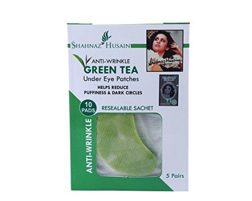 Shahnaz Husain Anti Wrinkle Green Tea Under Eye Patches Ayurvedic and Herbal (10 pads) (Pads Green Tea)