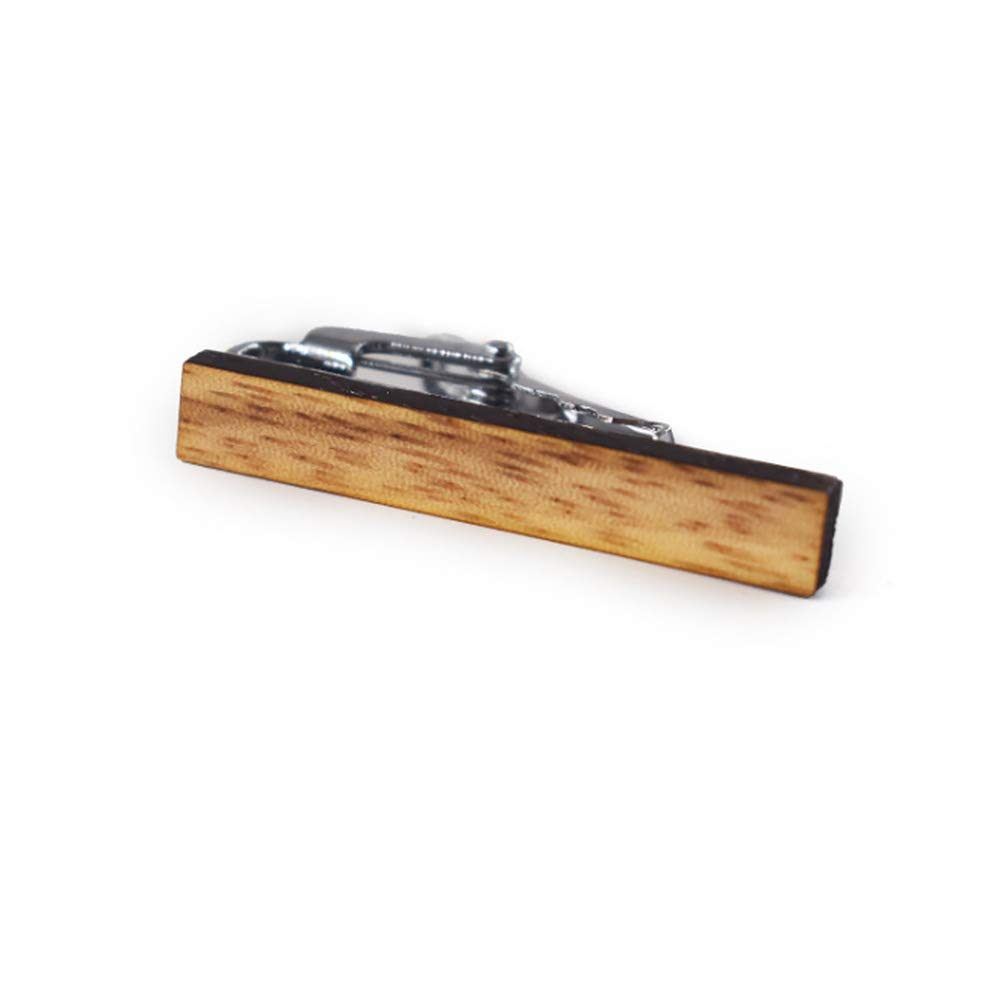 LNIMIKIY Tie Clip Exquisite Elegant Formal Fashion Gifts For Men Business Wedding Clasp Casual Durable Printing Wooden Jewelry