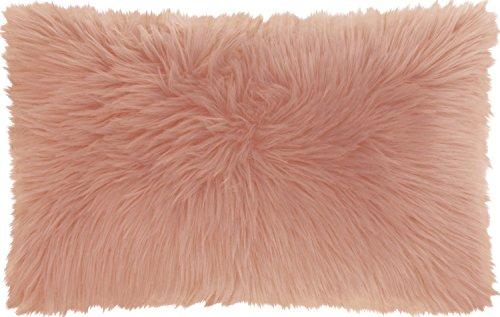 - Mina Victory by Nourison FL101 Remen Poly Faux Fur Throw Pillow, 14