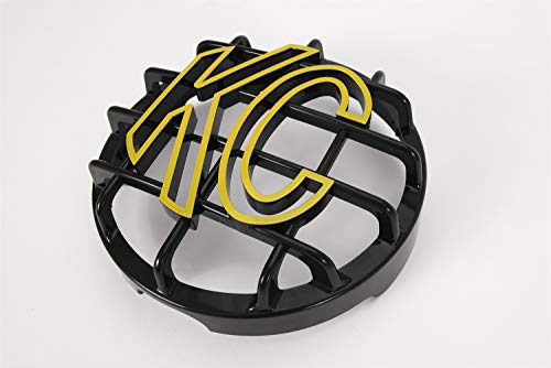 KC HiLiTES 72101 Black ABS Stone Guard with Yellow KC Logo for 6