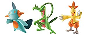 Pokemon - Pack de 3 figuras - Marshtomp, Grovyle, Combusken (Bizak 30698524)