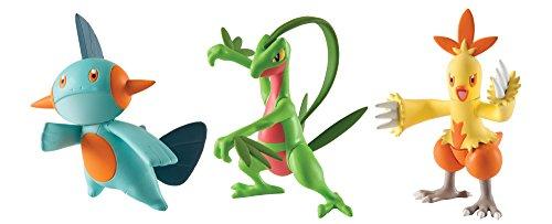 Pokémon Action Pose 3 Pack, Grovyle, Combusken and Marshtom