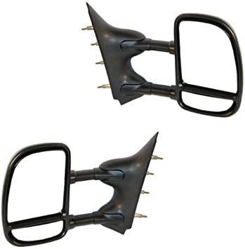 Amazon Com 2002 2012 Ford Econoline E250 E350 E450 E550 Van Manual Telescopic Dual Post Black Textured Folding Telescoping 2 Arm Rear View Mirror Set Pair Left Driver And Right Passenger Side 2002 02 2003 03 2004 04 2005 05 2006 06 2007 07 2008 08