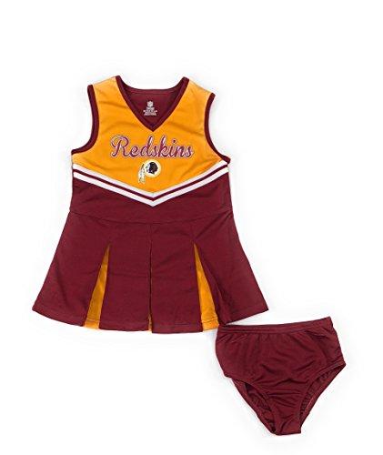 Outerstuff Washington Redskins Football Girls Cheerleader Dress Clothing (Baby Cheerleader Dress)
