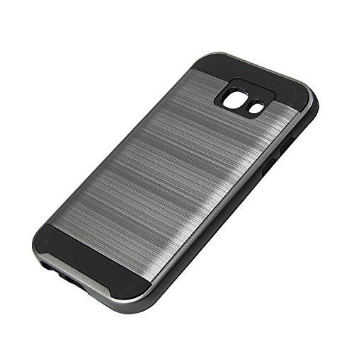 Ego® Hard Case carcasa para Samsung Galaxy A5A500, Gold Metallic Effect aluminio Brushed Funda Cover Carcasa Bumper Funda Grau
