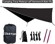 Hammock Rain Fly Waterproof Portable Tent Hammock Tarp Outdoor Camping Rainfly Shelter Ripstop Nylon with Ligh