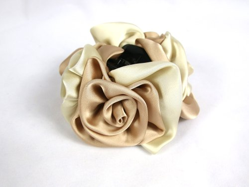 Large Size Claw Clips : Rose handmade claw clips (Beige)