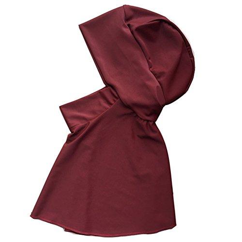 Highdas Muslim Schwimmen Kleider Abaya Frauen Badebekleidung Full Covered Islamischen Hijab Badeanzug rot M