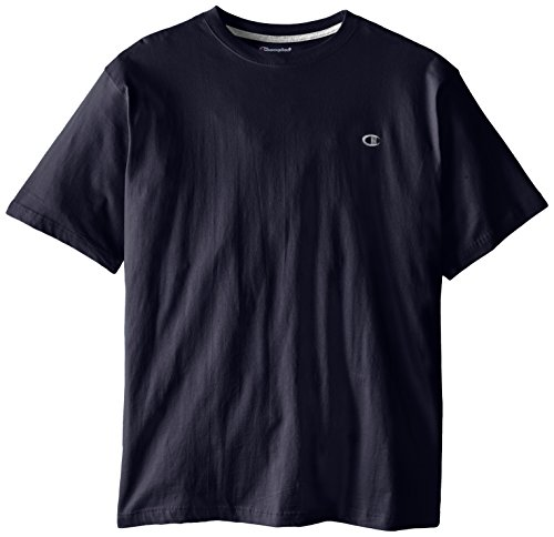 Champion Men's Big-Tall Crew Neck Jersey T-Shirt, Navy, X-Large/Tall