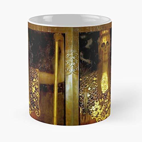 Vintage Jugendstil Artwork Pallas Athena Greek Female Warrior Godess Gustav Klimt - Best Gift Ceramic Coffee Mugs 11 Oz -