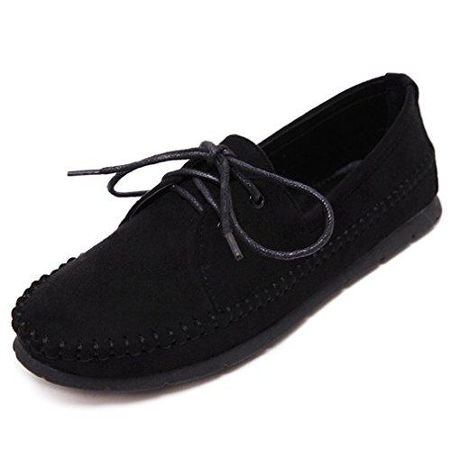 Cybling Casual Zachte Zolen Instappers Loafers Schoenen Voor Dames Outdoor Riemen Platte Schoenen Zwart
