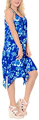 Blu bagno maxi casuali coprire beachwear bikini costume k504 LA da Kimono donne vestito delle LEELA nwaWOPqU