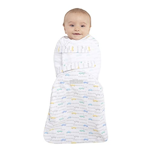 HALO Swaddlesure Adjustable Swaddling Pouch, Tune Up Grey, Small