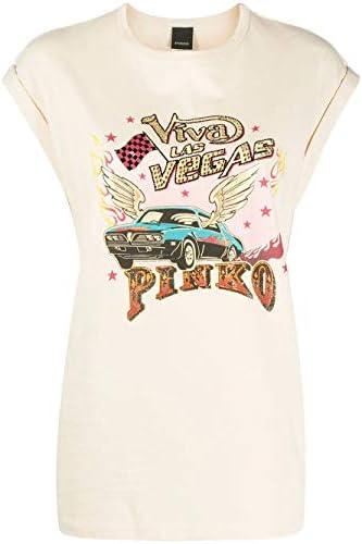 Pinko Luxury Fashion Donna 1G14RHY5BDC22 Beige T-Shirt  