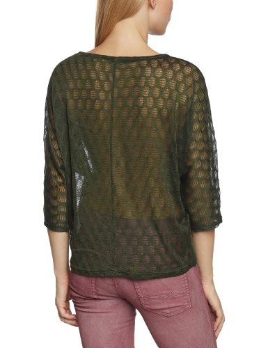Vero Moda - Camiseta con cuello redondo de manga 3/4 para mujer Verde (Kombu Green)