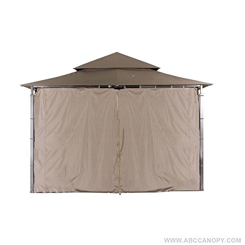 ABCCANOPY Replacement Gazebo Privacy wall for Target Madaga Gazebo (Brown) by ABCCANOPY