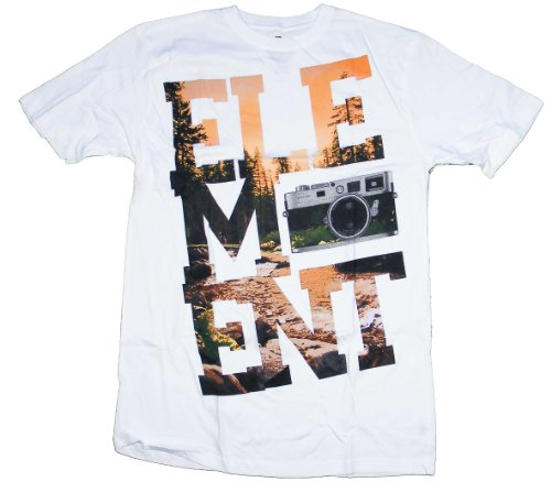 Mens Element Short T-shirt (Element Capture T-Shirt - White - XL)