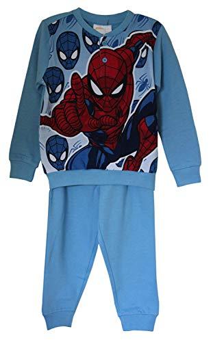 Marvel's Spider-man katoen pyjamashirt, pyjama met lange mouwen, omgeslagen mouwen, loungewear voor jongens