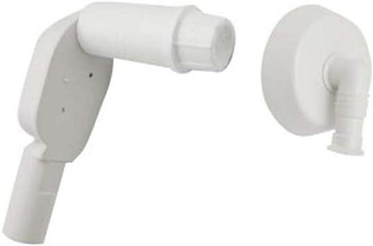 Sifón empotrable para lavadora o lavavajillas diámetro 40 blanco ...