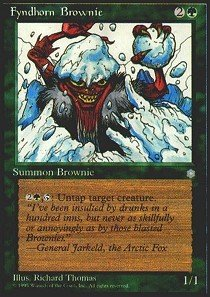 Magic: the Gathering - Fyndhorn Brownie - Ice - White Brownie