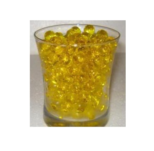 Water Beads for Wedding, Holiday, All Occasion Home Decor - 10 Gram Pack - Makes 1 Quart (4-5 Cups) (Yellow)