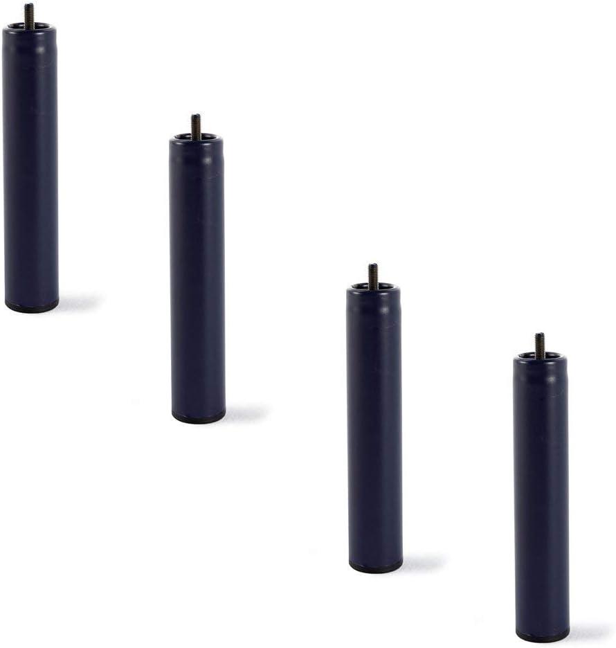 HOGAR24 4 Patas de somier ó Base tapizada, metálicas, cilíndricas con Rosca 32CM