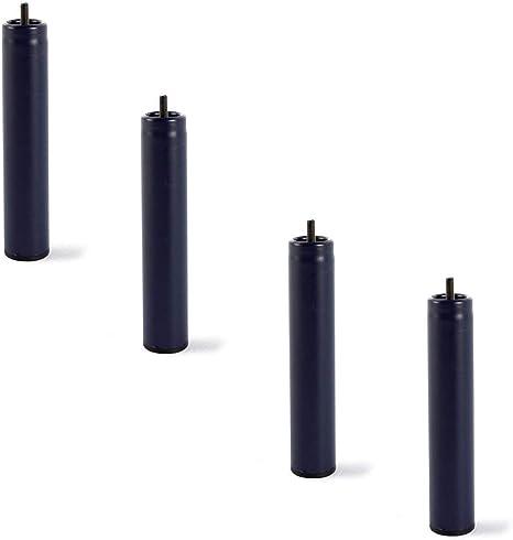 HOGAR24 ES Juego 4 Patas Metálicas Redondas Alto 25 cm para somier ó Base tapizada