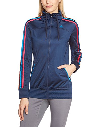 Adidas Track Maglietta Blau Fullzip Allenamento Top Da Giacca gqpwaY0xp