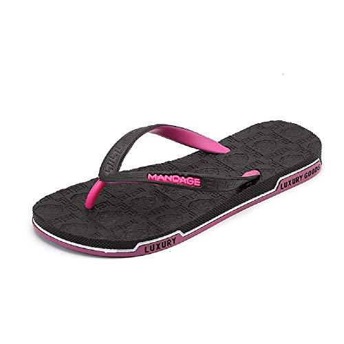 Noir Bleu Sandals Fuxitoggo EU Flat Flops Flip Femmes Taille 37 Beach Clip coloré Summer Toe FpvR6Fq
