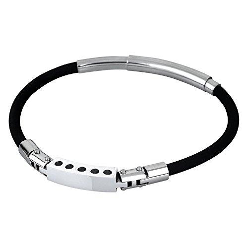 80ef8ef61d9f Barato Lotus Style pulsera para hombre Men in Black-colección acero plata  negro JLS1735 -