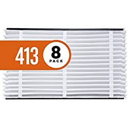 Aprilaire 413 Air Filter for Aprilaire Whole Home Air Purifiers, MERV 13 (Pack of 8)