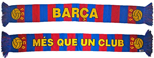 (FC Barcelona Mes Que Un Club Soccer Team Bar Scarf)