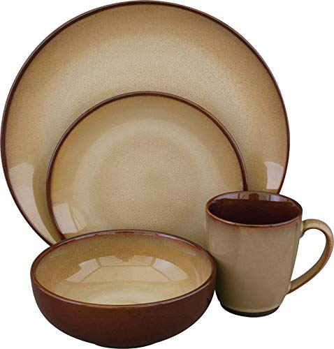Sango 16 Piece Nova Dinnerware Set, Brown